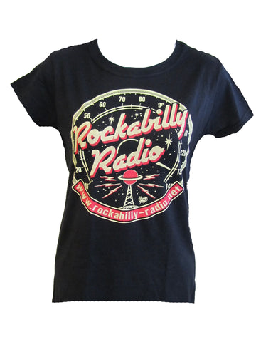 ROCKABILLY RADIO T-SHIRT- WOMEN'S ROUND LOGO