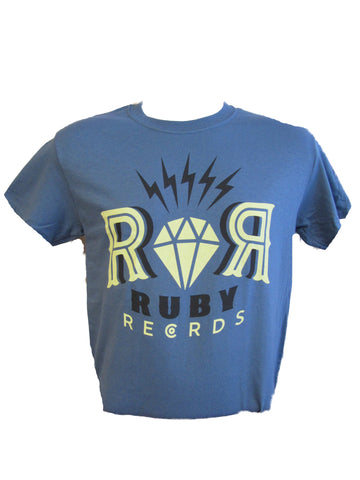 RUBY RECORDS MEN'S T-SHIRT- INDIGO