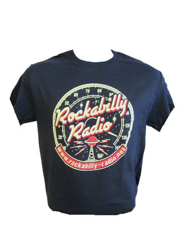 ROCKABILLY RADIO T-SHIRT- MEN'S ROUND LOGO