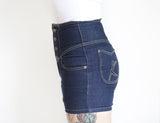 Miss Rockwell De'Vil High Waisted Denim Shorts by Kustomville