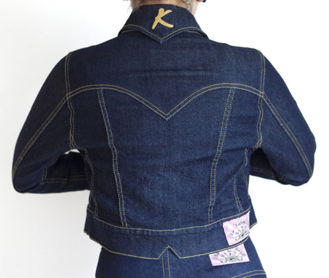 Miss Rockwell De'Vil Denim Jacket by Kustomville