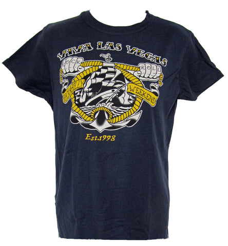 VLV 20 Women's Rock N Roll Anchor T-shirt- Navy