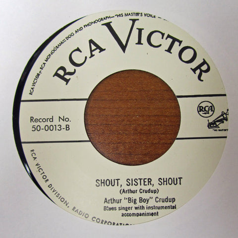 "Arthur Crudup ""SHOUT SISTER SHOUT'"" / ""THAT'S ALRIGHT MAMA""- 45 RPM RECORD RE-ISSUE"