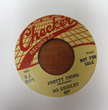"Bo Diddley ""PRETTY THING"" / ""BRING IT TO JEROME""- 45 RPM RECORD RE-ISSUE"