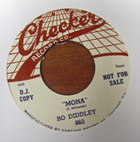 "Bo Diddley ""MONA"" - ""WHO DO YOU LOVE""- 45 RPM RECORD RE-ISSUE"