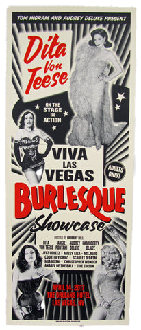 VLV 20 The Burlesque Showcase Silk Screen Poster