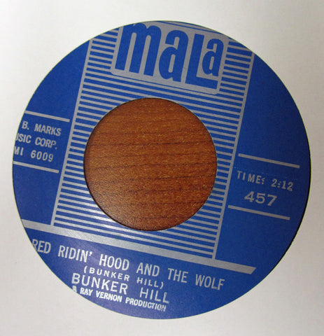 "Bunker Hill ""RED RIDING HOOD AND THE WOLF"" / ""NOBODY KNOWS""- 45 RPM RECORD RE-ISSUE"