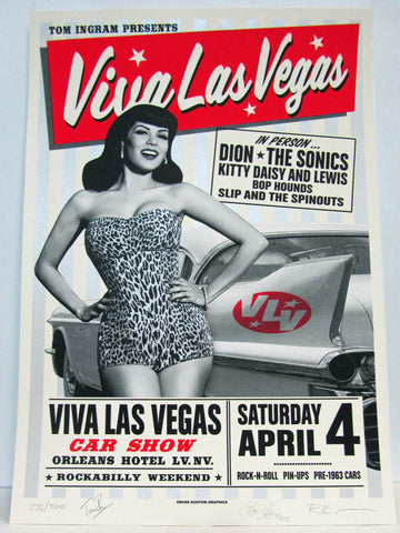 VLV18 Car Show Silk Screen Poster- Signed