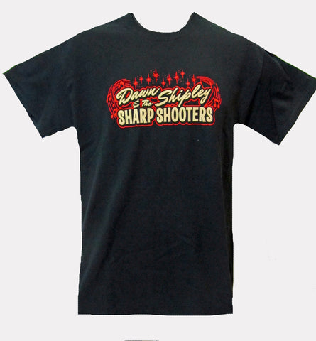 DAWN SHIPLEY & THE SHARP SHOOTERS LOGO T-SHIRT- MEN'S