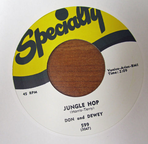 "Don and Dewey ""A LITTLE LOVE"" / ""JUNGLE HOP""- 45 RPM RECORD RE-ISSUE"