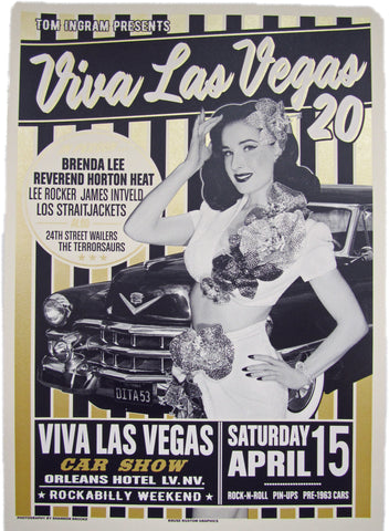 VLV 20 Silk Screen Car Show Poster featuring Dita Von Teese