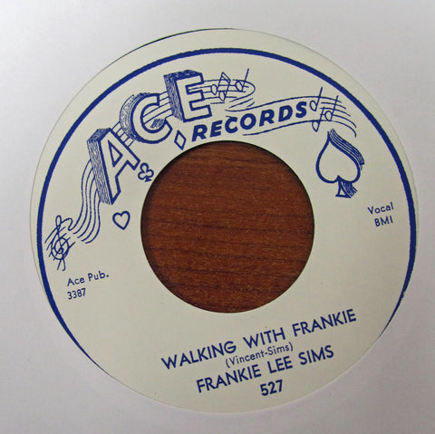 "Frankie Lee Sims ""WALKING WITH FRANKIE"" / ""HEY LITTLE GIRLS""- 45 RPM RECORD RE-ISSUE"