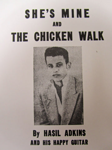 "Hasil Adkkins ""CHICKEN WALK"" / ""SHE SAID""- 45 RPM RECORD RE-ISSUE"