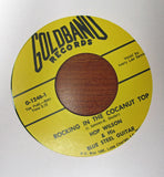 "Hop Wilson ""CHICKEN STUFF"" / ""ROCKIN' IN A COCANUT TOP""- 45 RPM RECORD RE-ISSUE"