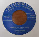 "JIMMY LIGGINS ""BOOGIE WOOGIE KING"" / ""NO MORE ALCOHOL""- 45 RPM RECORD RE-ISSUE"