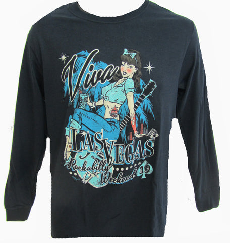 VLV 19 Men's Pin Up Gal T-Shirt- Long Sleeve