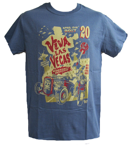 VLV 20 Men's Main Design T-shirt - Blue