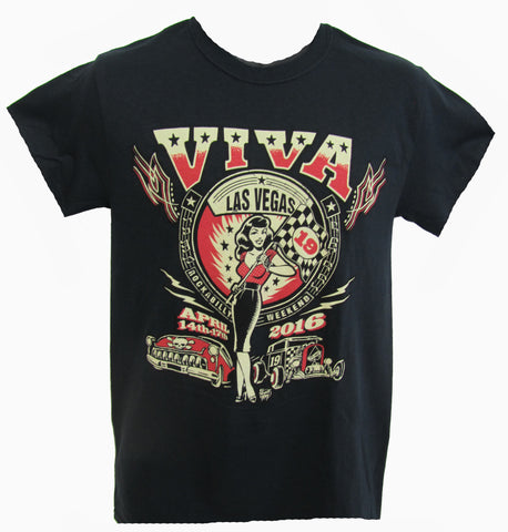 VLV 19 Men's Main Design T-Shirt- Black