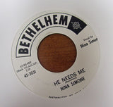 "Nina Simone ""MY BABY JUST CARES FOR ME"" / ""HE NEEDS ME""- 45 RPM RECORD RE-ISSUE"