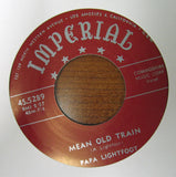 "Papa Lightfoot ""WINE, WOMEN, WHISKY"" / ""MEAN OLD TRAIN""- 45 RPM RECORD RE-ISSUE"