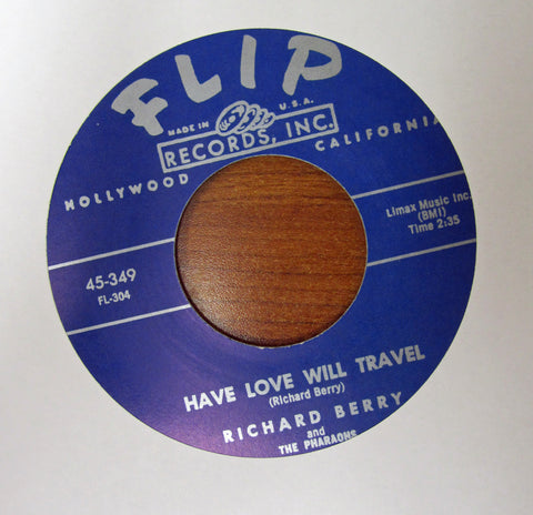 "Richard Berry ""LOUIE LOUIE"" / ""HAVE LOVE WILL TRAVEL""- 45 RPM RECORD RE-ISSUE"