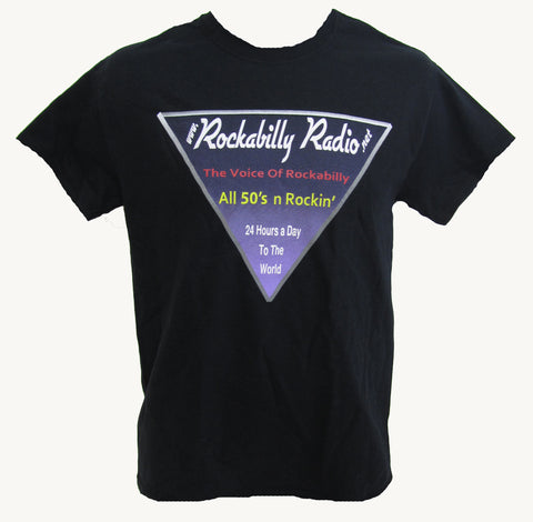 Rockabilly Radio Triangle Logo T-Shirt