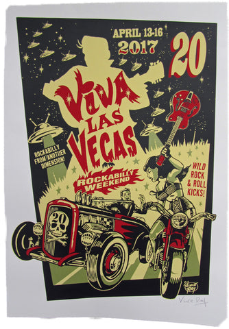 VLV 20 Silk Screen Poster