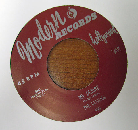 "The Cliques ""I'M IN LOVE WITH A GIRL"" / ""MY DESIRE""- 45 RPM RECORD RE-ISSUE"