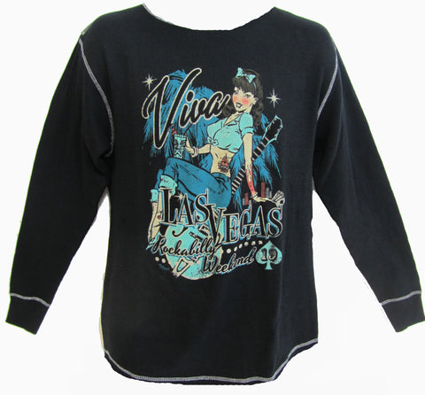 VLV 19 Men's Pin Up Gal Thermal Shirt