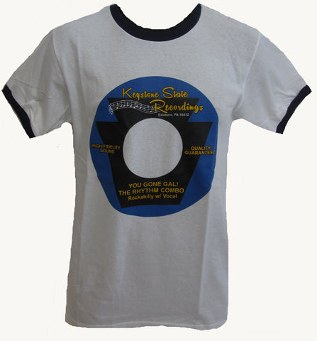 The Rhythm Combo- White 45 T-Shirt