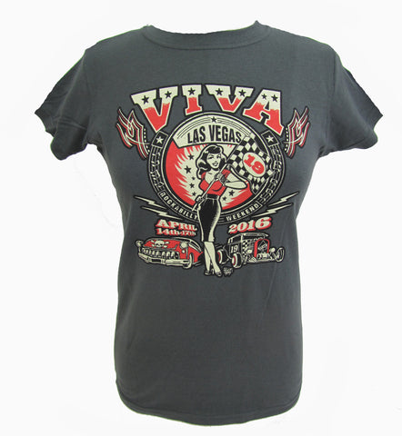 VLV 19 Women's Main Design T-Shirt - Grey