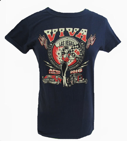 VLV 19 Women's Main Design T-Shirt - Navy