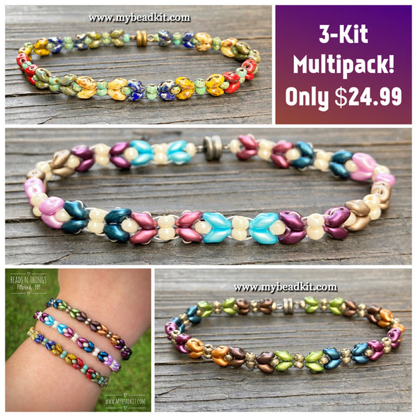 3-Kit Multipack: Dragonfly Wings Beaded Bracelet Kits