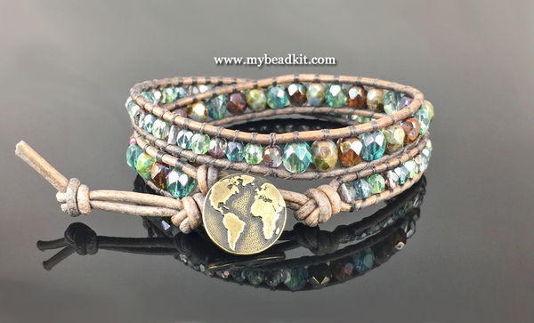 New! Moonlight Glimmer Double Wrap Bracelet Kit