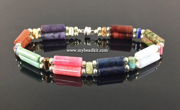 New! Semi-Precious Stone Beaded Bracelet Kit