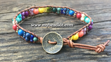 """Fiesta"" Leather Wrap Bracelet Kit"