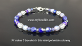 3-Kit Multipack: Basic Beaded Bracelet Kits (Violet/Periwinkle)