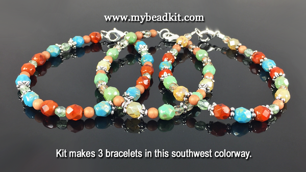 3-Kit Multipack: Basic Beaded Bracelet Kits (Southwest)