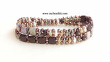 Springtime Beaded Bracelet Kit with 2-Hole Glass Beads (Brown Mix)
