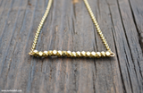 SALE! Simple Beauty Bead & Chain Minimalist Necklace Kit - Brass