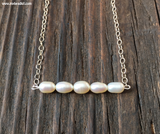 SALE! Sterling Silver & Freshwater Pearls Simple Beauty Minimalist Necklace Kit