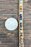 Earth Tones Glass Seed Bead & Leather Double Bracelet Kit