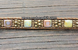 NEW! Sparkle & Shine! Tile Bead Wrap Bracelet Kit with Seed Beads & Crystals (Bronze Shadow)