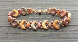 Chevron Beaded Bracelet Kit with 2-Hole Glass Beads (Copper Mix)