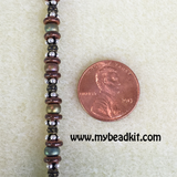 SOLD OUT! Bead Stringing 101: Beaded Bracelet Making Kit (Copper Iris colored glass beads)