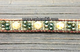 SOLD OUT! Sparkle & Shine! Hex Bead Wrap Bracelet Kit with Seed Beads & Crystals (Cream & Green)