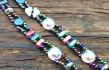 SOLD OUT! Mix It Up! Beaded Bracelet Kit with 2-Hole Glass Beads (Teal Pink White)