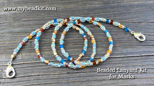 New! Beaded Lanyard Kit for Masks (Beach tones)
