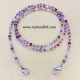 New! Beaded Lanyard Kit for Masks (Pink/Purple)