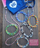 New! Beaded Lanyard Kit for Masks (Multicolor)